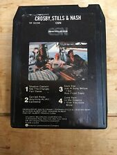 CROSBY, STILLS & NASH CSN 1977 STEREO 8 TRACK TAPE CARTRIDGE TESTED!