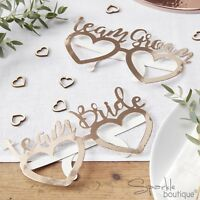 ROSE GOLD 'TEAM BRIDE' & 'TEAM GROOM' GLASSES x 8 - Wedding Photo Booth Props
