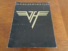 VAN HALEN ORIGINAL 1979 WORLD TOUR PROGRAMME