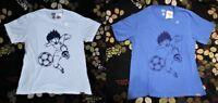 CAPTAIN TSUBASA X UNIQLO Shonen Jump 50th Graphic Men's T-shirts Bundle Set of 2