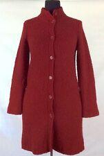 JONES NEW YORK Sport Deep Red Women's Long Sleeve Wool Sweater Jacket MEDIUM