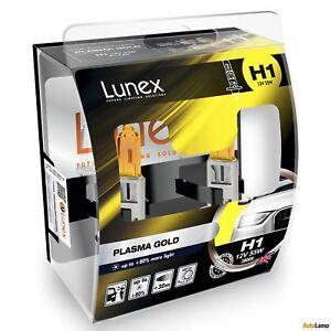 2x H1 Lunex Plasma Gold 12V 55W Car Headlight Halogen Bulbs Yellow P14,5s 2800K