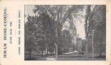 HIRAM Ohio ~ HIRAM Hill Home comingschhol ~ invito ~ EX ALLIEVI ~ 1908 GIUGNO 24-26