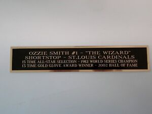 Ozzie Smith Cardinals Nameplate For A Baseball Bat / Jersey Display Case 1.5 X 6