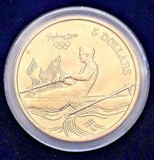 AUSTRALIAN 2000 OLYMPICS ENCAPSULATED COIN 5 Australian Dollar ROWING