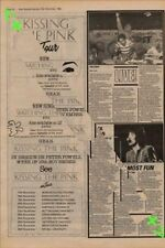 Kissing The Pink Tour Advert NME Cutting 1982