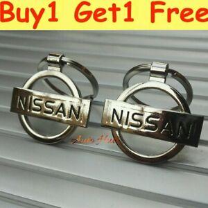 "NISSAN 3D CHROME METAL LOGO KEYRING KEYCHAIN FOB "" BUY 1 GET 1 FREE """