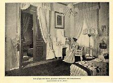 """Rosa poppe con il suo """"papchen"""" stampa storica-ingestione di 1899"""