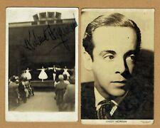 More details for robert helpmann, australian ballet dancer, two original autograph photographs