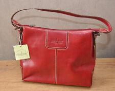 sac à main rouge matière de synthèse garni de cuir vachette Neuf marque Hexagona