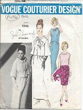 "1960s Vintage VOGUE Sewing Pattern DRESS-JACKET B34"" (R496) By John Cavanagh"