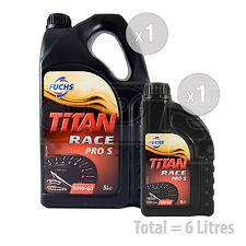 Car Engine Oil Service Kit / Pack 6 LITRES Fuchs Titan Race Pro S 10W-60 6L