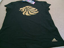 Official adidas LONDON 2012 Team GB Lion Head Women's Black T-Shirt, Size: 12