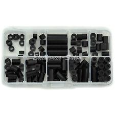 Black Nylon Round Spacer Assortment Kit, for M3 Screws, Plastic.