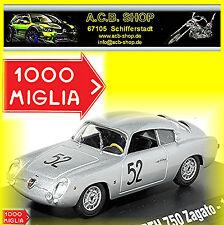 Abarth 750 Zagato Mille Miglia 1957 #52 1:43 Ixo