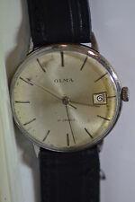 """Olma"" ~17J Rare cal.AS 1703 Swiss Circa 1960's Date calendar Men's Wristwatch"