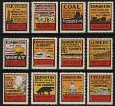 "Twelve Vintage ""EDMONTON"" Chamber of Commerce Advertising Labels"