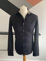 BURBERRY BRIT Shirt Size Small BLACK | Smart Casual Designer Original Work Mens