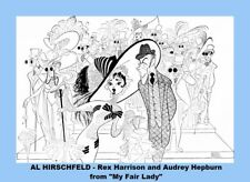 HIRSCHFELD COPIES OF POSTERS, 12 DIFFERENT 8 X 10 LAMINATED