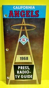 1968 California ANGELS MEDIA GUIDE Baseball Press Book Anaheim / Los Angeles