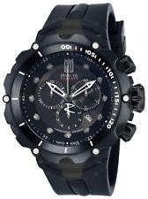 New Mens Invicta 14422 Jason Taylor Reserve Chronograph All Black Rubber Watch