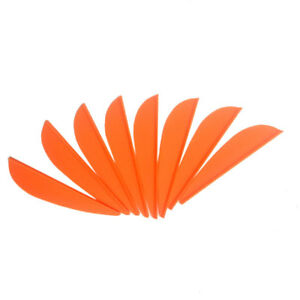 """100pcs 2"""" Archery Arrow Vanes Rubber Feather Fletching Fletches Bow DIY Hunting"""