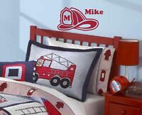 Personalized Fireman Helmet Wall Decal kids sticker mural decor children nursery