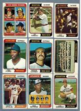 1974 TOPPS  BASEBALL EX to NRMT COMPLETE YOUR SET - U PICK ANY TEN