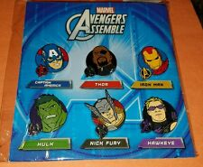 Disney Pins Marvel Avengers Assemble Booster 6 Pins - New / Sealed REDUCED