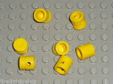 7 x piston LEGO Technic yellow Engine Piston Round ref 2851 / set 8457 8653 8145