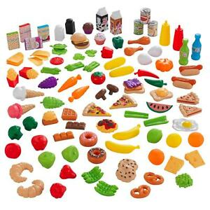 KidKraft Deluxe Tasty Treats Play Food  115 Pcs Fruit Vegetables Snacks And More