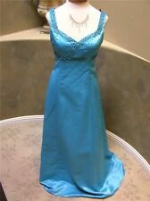 NWT Delaru prom social occasion pageant party dress size 5/6 turquoise