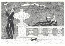 EDWARD GOREY 4 x 6 Illustrated Postcard SIGNED by the Artist QUITE RARE