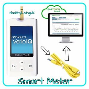 One Touch Verio IQ Blood Glucose Meter -Rechargeable - Single Unit Meter Only