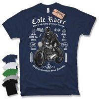BIKER T-Shirt - Oldschool Cafe Racer Motorrad Motorcycle Skull Gr. S M L XL XXL