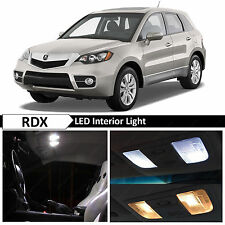 12x White LED Lights Interior Package Kit for 2007-2012 Acura RDX