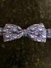 Vineyard Vines Boys Bow Tie With Donkeys And Patriotic Hats And Banners, NWT