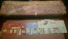 Marx Western Town Jail Side  w/ box  Dodge City Roy Rogers Gun smoke tin litho