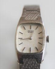 Vintage Seiko quartz watch. Graduated metal band.