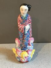 Antique Vtg Famille Rose Chinese Figurine Republic Period Immortal