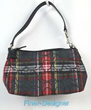 Coach Poppy Glitter Tartan Plaid Purse Wristlet Limited Edition bag SZ small NEW