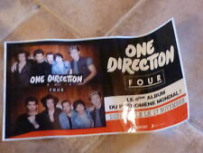 ONE DIRECTION !!!!!RARE AUTOCOLLANT PROMO 55 X 30 CM!!!!!GIANT PROMO STICKER!!!!