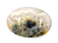 48ct Natural Fine Moss Agate Oval Cabochon Landscape Agate Untreated Unheated