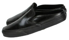 Vans Womens Classic Slip On Mules Size 6.5M Black Leather Sneaker Flats Shoes