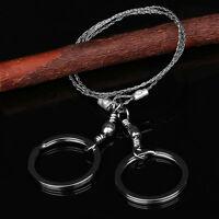 5x Schlüsselringe Edelstahl Durchmesser Ø7,5 cm schwarz extra gross key chain