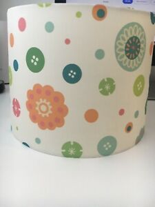 Next Flowers and Buttons Drum Lampshade