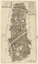 'Lime Street Ward'. Leadenhall/Gracechurch St. City/London. STOW/STRYPE 1720 map