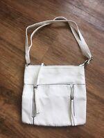 Women/s Ladies white leather look cross body bag shoulder bag summer bag