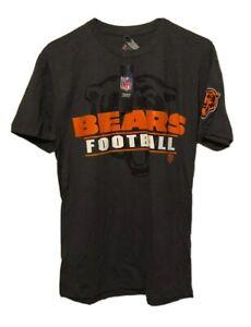 Chicago Bears Majestic NFL Football Mens Gray Medium T-Shirt Poly Cotton NWT