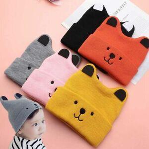 Photography Props Bonnet Hats Newborn Baby Hat Winter Warm Cap Knitted Beanies